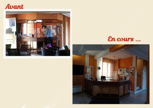DEBUT TRAVAUX HOTEL 1 - accueil